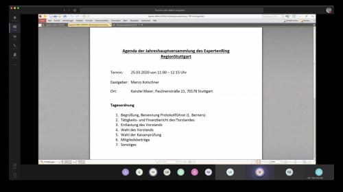 Online-Mitgliederversammlung vom 25.03.2020
